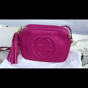 Gucci Soho Disco Bag  in Bright bougainvillea
